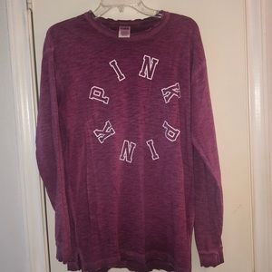 Purple long sleeve tee from PINK Victoria's Secret